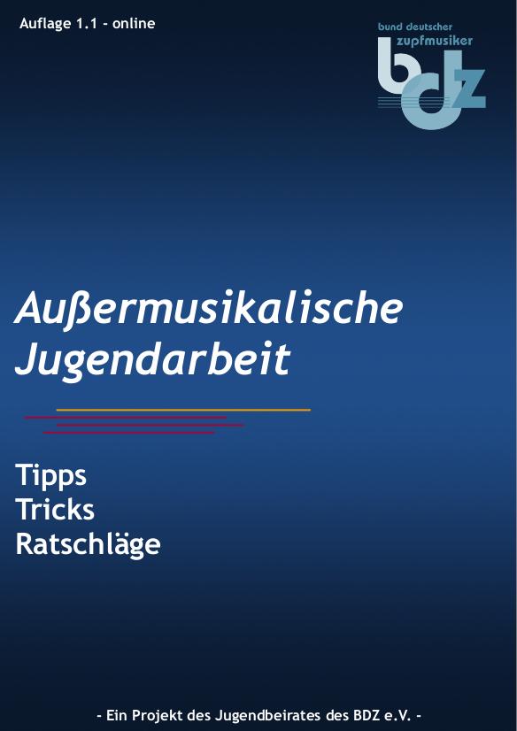 Deckblatt des Handbuchs zur Außermusikalischen Jugendarbeit